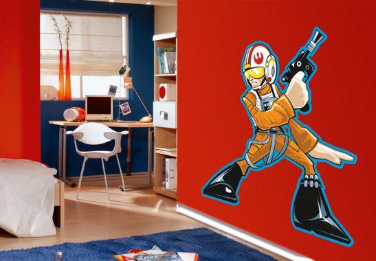 wandtattoo star wars clone wars rebel pilot comic style als offizielles lizenzprodukt von. Black Bedroom Furniture Sets. Home Design Ideas