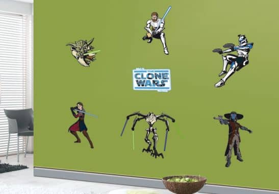the clone wars aufkleber wandtattoo set mit anakin. Black Bedroom Furniture Sets. Home Design Ideas
