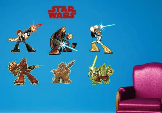 wandtattoos clone wars anakin und yoda f r kinderzimmer. Black Bedroom Furniture Sets. Home Design Ideas