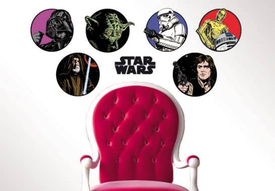 wandtattoo wandtattoo star wars emblem set. Black Bedroom Furniture Sets. Home Design Ideas