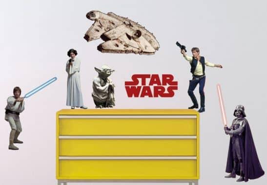 wandtattoos star wars set 1 wandsticker von star wars. Black Bedroom Furniture Sets. Home Design Ideas