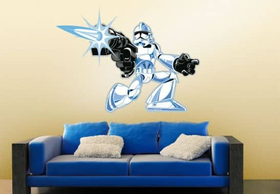 wandtattoo wandtattoo stormtrooper comic style 01. Black Bedroom Furniture Sets. Home Design Ideas