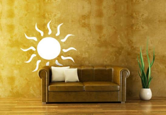 sticker mural soleil wall. Black Bedroom Furniture Sets. Home Design Ideas
