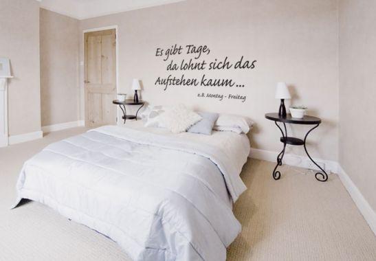 es gibt tage da lohnt sich das aufstehen kaum wandspruch f r morgenmuffel f r das. Black Bedroom Furniture Sets. Home Design Ideas