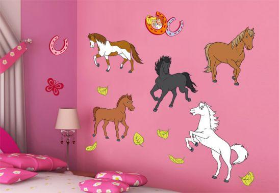 wall stickers animals horses shop wall. Black Bedroom Furniture Sets. Home Design Ideas