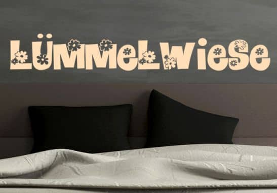 wandtattoo l mmelwiese deko f r schlafzimmer wall. Black Bedroom Furniture Sets. Home Design Ideas