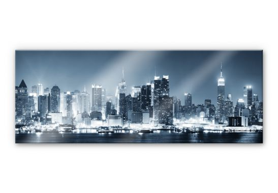 acrylglasbild new york at night 1 panorama wundersch ne wanddeko f r zuhause wall. Black Bedroom Furniture Sets. Home Design Ideas