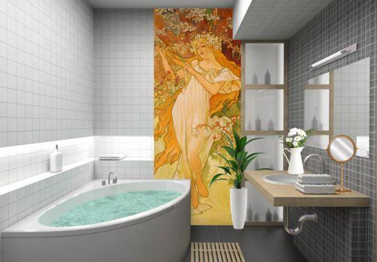 Fototapeten Jahreszeiten : Fototapete Mucha ? Jahreszeiten: Der Fr?hling 2 von K&L Wall Art