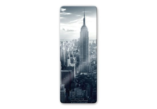 glasbild panorama the empire state building wall. Black Bedroom Furniture Sets. Home Design Ideas