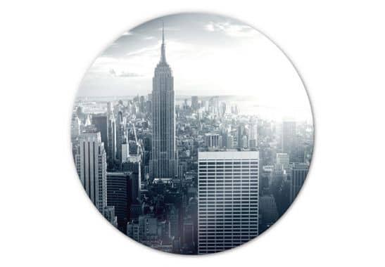 Glasschilderijen - Glasschilderijen Empire State Building - rond