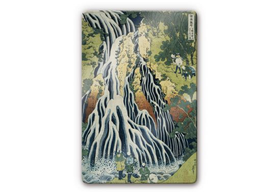 glasbild hokusai der kirifuri wasserfall wall. Black Bedroom Furniture Sets. Home Design Ideas