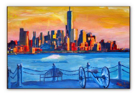 wanddecoratie hdf bleichner blik op new york city wall