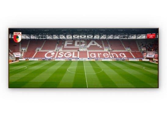 hdf wandbilder wandbild fc augsburg stadion trib ne panorama. Black Bedroom Furniture Sets. Home Design Ideas
