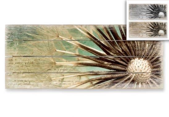panorama holzbild pusteblumen poesie wall. Black Bedroom Furniture Sets. Home Design Ideas
