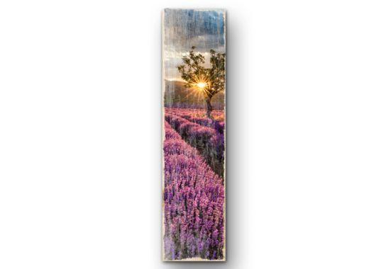 Houten Bordjes - Houten Wanddecoratie Lavendel in de Provence