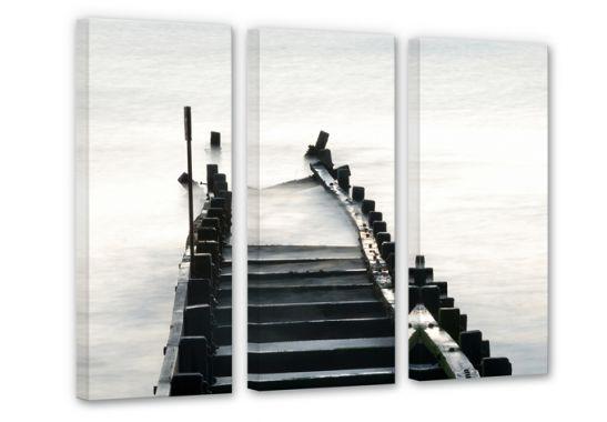 leinwandbild 3 teilig way to nowhere wall. Black Bedroom Furniture Sets. Home Design Ideas