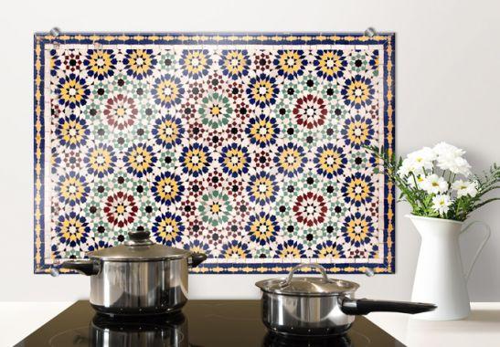 oriental tiles 1 kitchen splashback wall. Black Bedroom Furniture Sets. Home Design Ideas