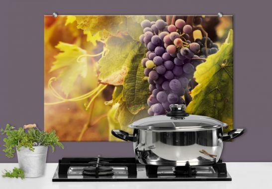 Cr dence vigne de toscane wall - Credence autocollant cuisine ...