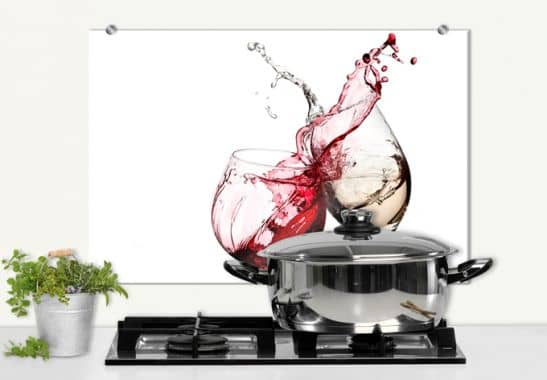 wine glasses splashback wall. Black Bedroom Furniture Sets. Home Design Ideas
