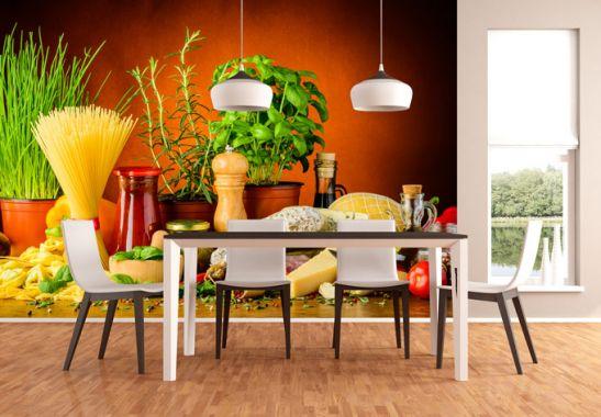 Italiaanse Keuken Teksten : Fotobehang Italiaanse Keuken – wall-art.nl