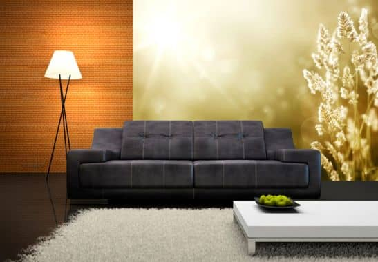 vliestapete sonniges kornfeld aus der wall art kollektion wall. Black Bedroom Furniture Sets. Home Design Ideas