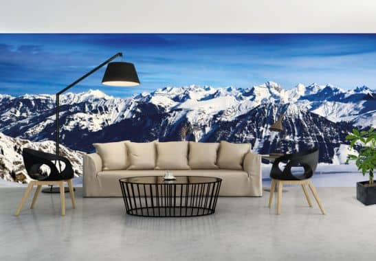 vliestapete alpenpanorama exklusiv aus der wall art kollektion wall. Black Bedroom Furniture Sets. Home Design Ideas