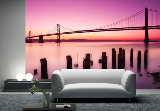 vliestapete san francisco bay exklusiv aus der wall art kollektion wall. Black Bedroom Furniture Sets. Home Design Ideas