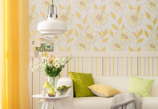 mustertapeten sch ner wohnen vliestapete braun gelb wei. Black Bedroom Furniture Sets. Home Design Ideas