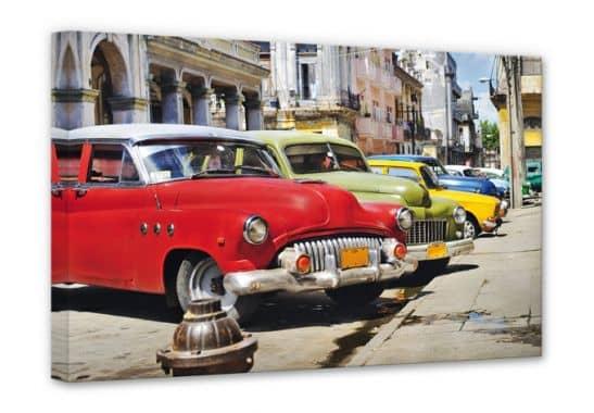 leinwanddruck cuba cars wandbild mit kuba oldtimern