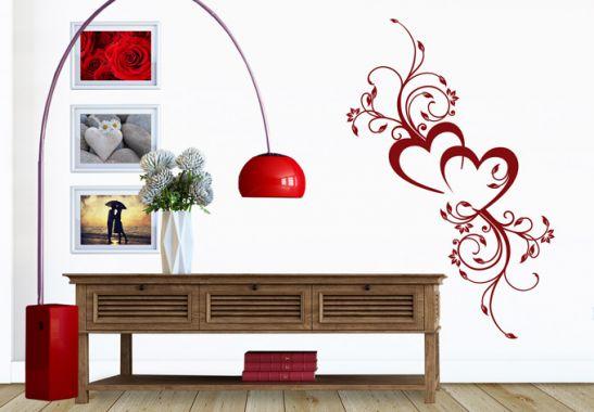 Sticker mural amour en fleur wall - Bordure jugendzimmer ...