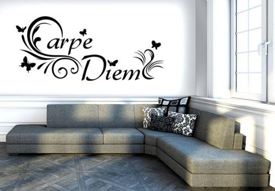 wandtattoo carpe diem 3 ein wandtattoo als deko idee wall. Black Bedroom Furniture Sets. Home Design Ideas