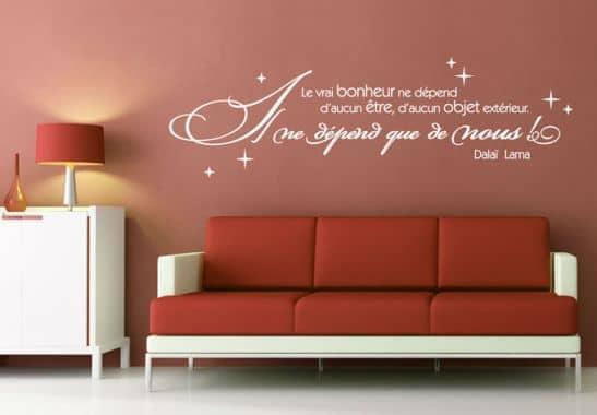 wandtattoo le vrai bonheur wall. Black Bedroom Furniture Sets. Home Design Ideas