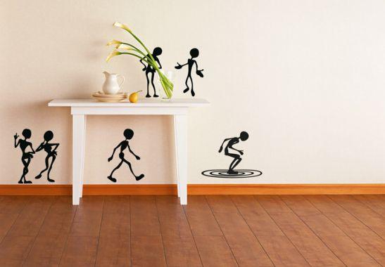 wandtattoo mitbewohner lustige figuren zum aufkleben wall. Black Bedroom Furniture Sets. Home Design Ideas