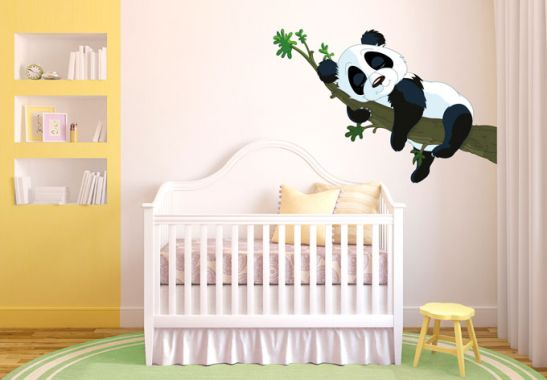 wandtattoo schlafender panda niedliches motiv f r das. Black Bedroom Furniture Sets. Home Design Ideas