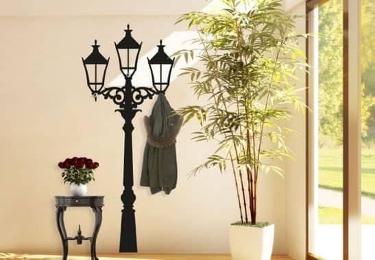 sticker mural lampadaire de rue wall. Black Bedroom Furniture Sets. Home Design Ideas