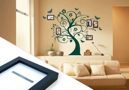 wandtattoo traumbaum inkl 5 bilderrahmen wall. Black Bedroom Furniture Sets. Home Design Ideas