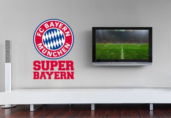 wandtattoo super bayern wall. Black Bedroom Furniture Sets. Home Design Ideas