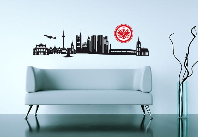 eintracht frankfurt skyline mit logo farbig kaufen und sparen. Black Bedroom Furniture Sets. Home Design Ideas