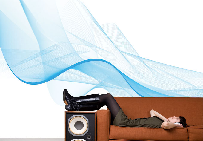 fototapete welle abstrakt blau linienmuster als deko wall. Black Bedroom Furniture Sets. Home Design Ideas