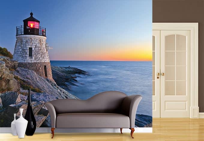 fototapete meerblick idyllisches urlaubsmotiv wall. Black Bedroom Furniture Sets. Home Design Ideas