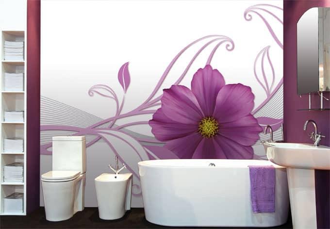 fototapete pink flower sch nes bl tenmotiv als dekoidee wall. Black Bedroom Furniture Sets. Home Design Ideas