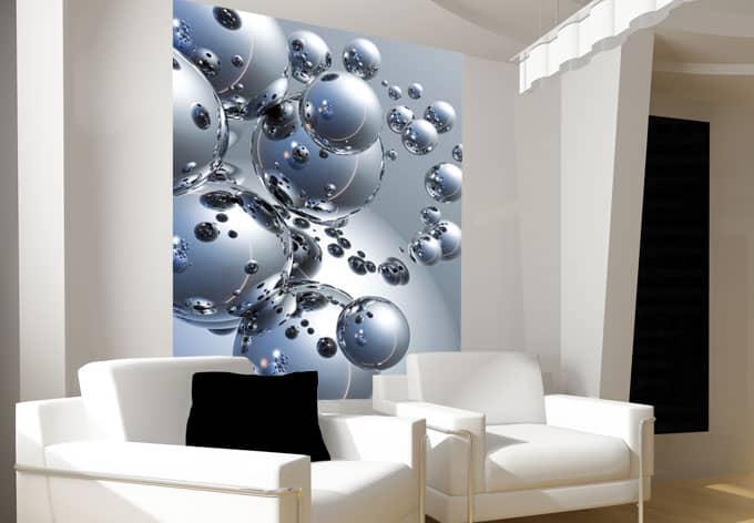 fototapete papiertapete silberkugel retro design mit fototapete wall. Black Bedroom Furniture Sets. Home Design Ideas