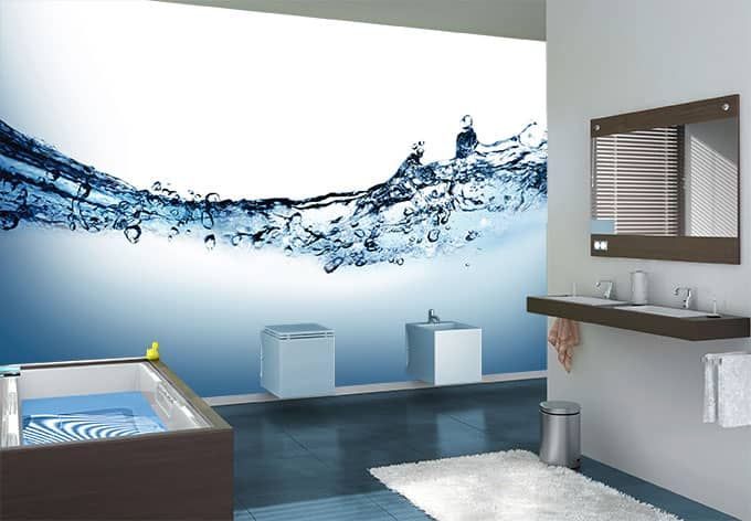 fototapete water flow flie endes wasser f r ihre wand wall. Black Bedroom Furniture Sets. Home Design Ideas