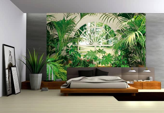 Anbringen Von Fototapeten : Wall Mural Wintergarden