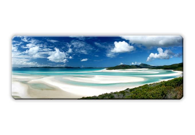 glasbild whitehaven beach panorama sch ne deko f r die w nde wall. Black Bedroom Furniture Sets. Home Design Ideas