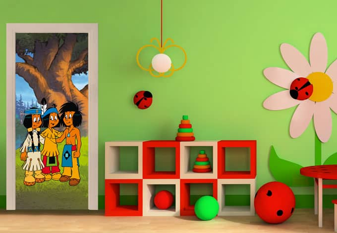 T rdesign yakari und freunde ber wandtattoo king kaufen for Kinderzimmer yakari