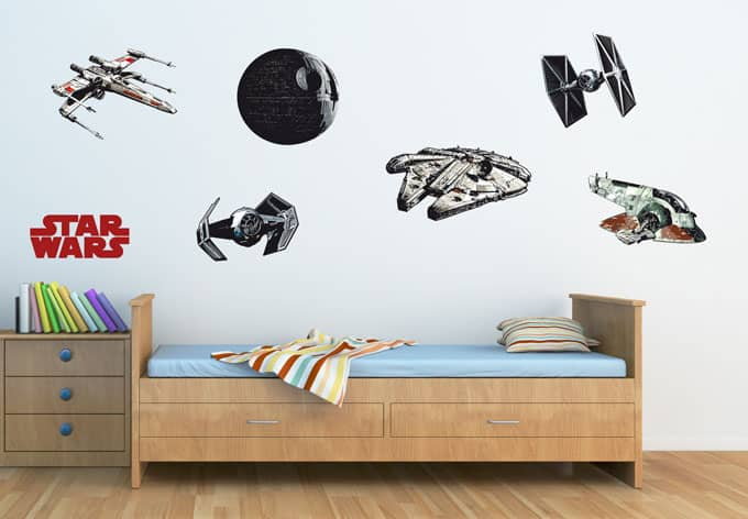 the clone wars star wars raumschiffe als wandtattoos wall. Black Bedroom Furniture Sets. Home Design Ideas