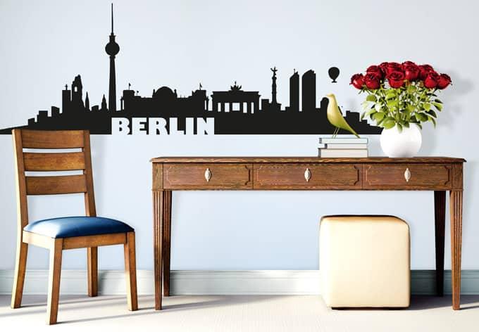 berlin skyline ber wandtattoo king kaufen und sparen. Black Bedroom Furniture Sets. Home Design Ideas
