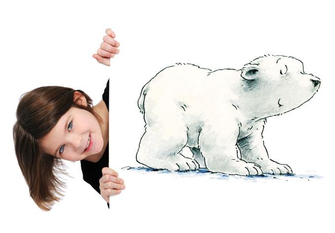 Lars der kleine Eisbär über Wandtattoo-King kaufen und sparen