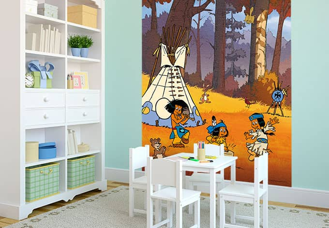 fototapete yakari party lustige dekoration f r das kinderzimmer wall. Black Bedroom Furniture Sets. Home Design Ideas